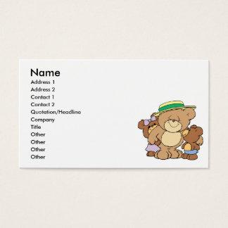 glücklicher Vatertags-Teddybärentwurf Visitenkarten