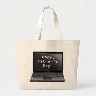 Glücklicher Vatertags-Vati-Laptop Jumbo Stoffbeutel