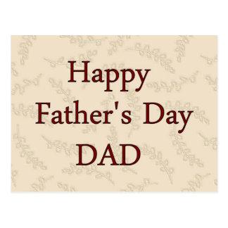Glücklicher VATI der Vatertag Postkarte
