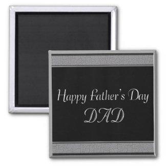 Glücklicher VATI der Vatertag Quadratischer Magnet