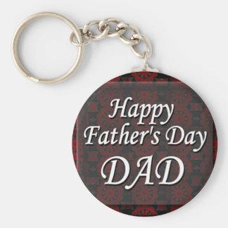 Glücklicher VATI der Vatertag Standard Runder Schlüsselanhänger