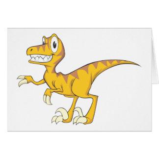 Glücklicher Velociraptor-Dinosaurier Karten