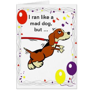 Glücklicher verspäteter Geburtstag Karte