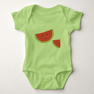 Glücklicher Wassermelone-Baby-Jersey-Bodysuit Baby Strampler