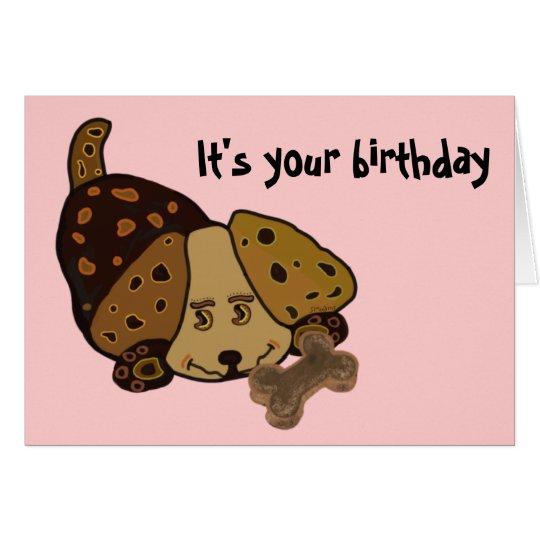 Glücklicher Welpen-Geburtstag Karte