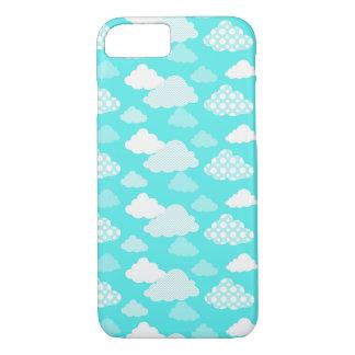 Glücklicher Wolken-Muster-Telefon-Kasten iPhone 8/7 Hülle