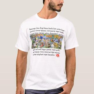 Glücklicher Zoo-Jahr-Tier-T - Shirt