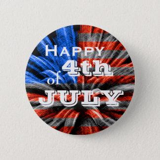 Glückliches 4. der Juli-Flaggen-Feuerwerke Runder Button 5,7 Cm