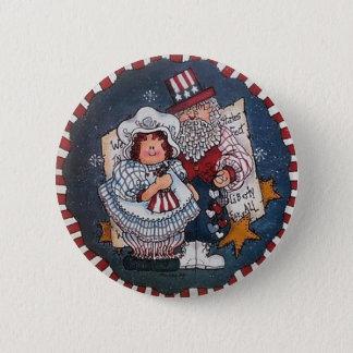 Glückliches 4. des Juli-Knopf-Buttons Runder Button 5,7 Cm