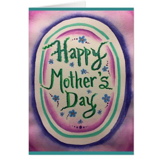 Glückliches Aquarell II der Mutter Tages Grußkarte