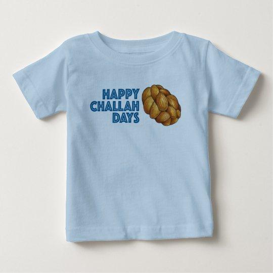 Glückliches Baby-T-Stück Challah-Tageschanukkas Baby T-shirt