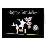 Glückliches Birthday_Here ist irgendein MOO-LAH Grußkarte
