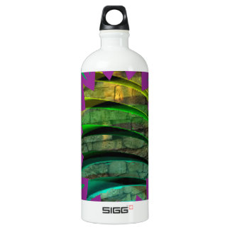 Glückliches buntes Geschenk des grafischen Aluminiumwasserflasche