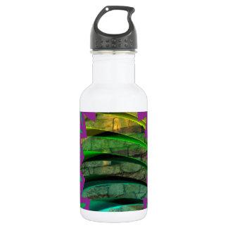 Glückliches buntes Geschenk des grafischen Trinkflasche