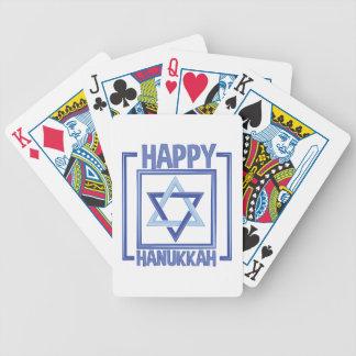 Glückliches Chanukka Bicycle Spielkarten