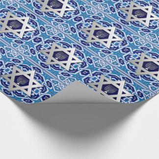 Glückliches Chanukka-/Chanukah Geschenk-Packpapier Geschenkpapier