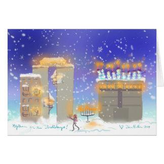 Glückliches Chanukka von Hanukkahville 2016 Grußkarte