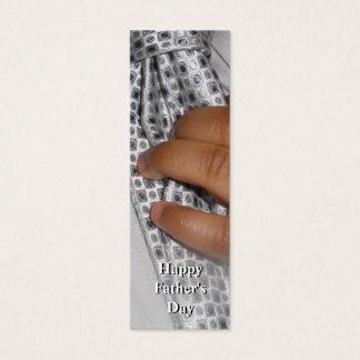 Glückliches der Vatertags-Doppeltes versah Mini Visitenkarte