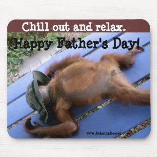 Glückliches der Vatertags-Entspannung Mousepads