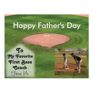 Glückliches der Vatertags-Karten-Baseball-Thema Postkarte