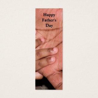 Glückliches der Vatertags-Lesezeichen Mini Visitenkarte