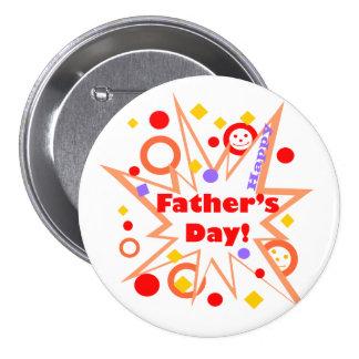 Glückliches der Vatertags-Spritzen Runder Button 7,6 Cm