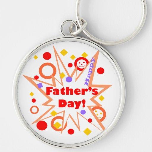 Glückliches der Vatertags-Spritzen Schlüsselbänder