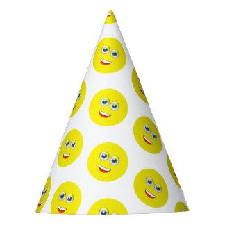 Glückliches Emoji Geburtstags-Party Partyhütchen