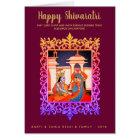 Glückliches Englisch Maha Shivaratri fasst Lord Karte