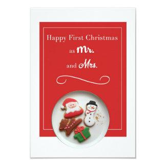 Glückliches erstes Weihnachten als Herr und Frau Karte