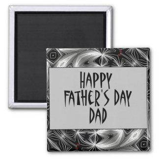 Glückliches Father' s-Tagesvati Quadratischer Magnet
