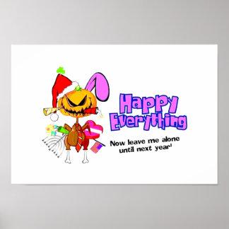 Glückliches Feiertag-Glückliches All-Glückliches Poster