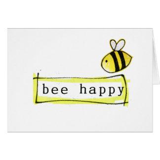 glückliches Gefühl der Biene Grußkarte