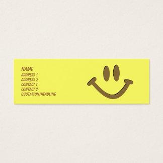 Glückliches Gesicht Mini Visitenkarte