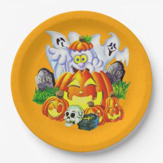Glückliches gespenstisches Halloween Pappteller 22,9 Cm