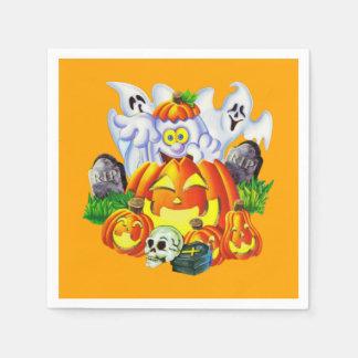 Glückliches gespenstisches Halloween Servietten
