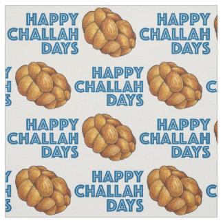 Glückliches Gewebe Challah-Tageschanukkas Chanukah Stoff