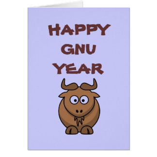 Glückliches Gnu-Jahr Karte