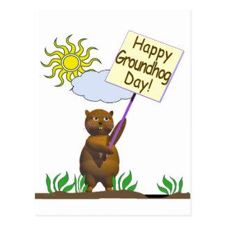 Glückliches Groundhog Day Groundhog Postkarte