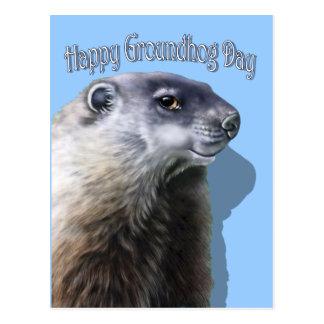 Glückliches Groundhog Day Postkarte