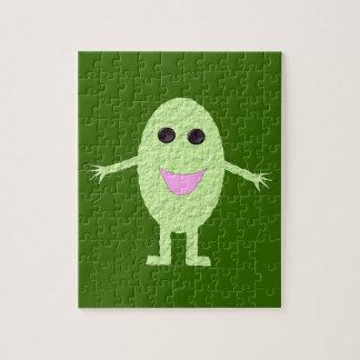 Glückliches grünes Trauben-Puzzlespiel