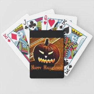 Glückliches Halloween 2 mit Text Bicycle Spielkarten