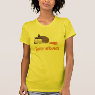 Glückliches Halloween! Igels-Hexe T-Shirt