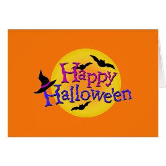 Glückliches Halloween Ilustrations Karte