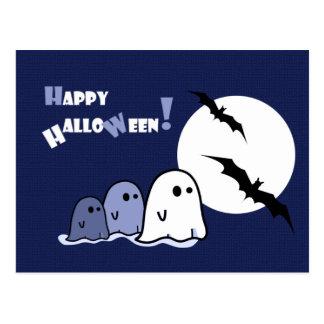 Glückliches Halloween! Lustige kleine Postkarte