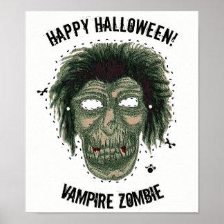 Glückliches Halloween - Masken-Vampirs-Zombie Poster
