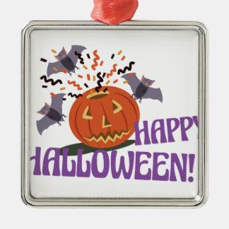 Glückliches Halloween-Motiv Silbernes Ornament