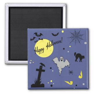 Glückliches Halloween Quadratischer Magnet