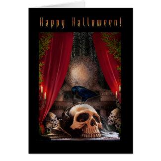 Glückliches Halloween - Raben-Höhle Karte