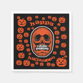 Glückliches Halloween - Schleifer-Zahn-Schädel 2 Servietten